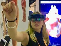 The company Biodigital at HIMSS 2019 last week showed augmented reality anatomy for education, patient education and surgical training. They offered several organ models, including the heart. Using an augmented reality headset, hand and voice commands, users can rotate, slice through, and change the heart rate.