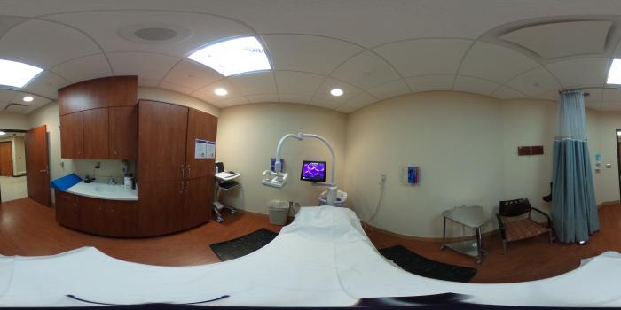 360 View of an Automated Breast Ultrasound (ABUS) Imaging Room